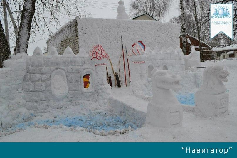 Крепость из снега своими руками фото